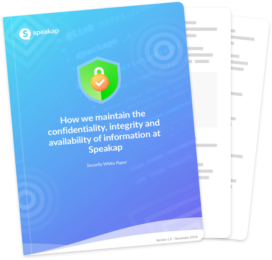 Speakap information security whitepaper