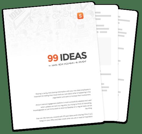 99 ideas to share on Speakap