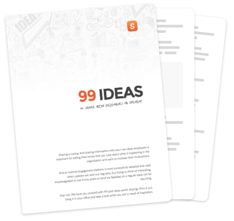 99 ideas to share on Speakap