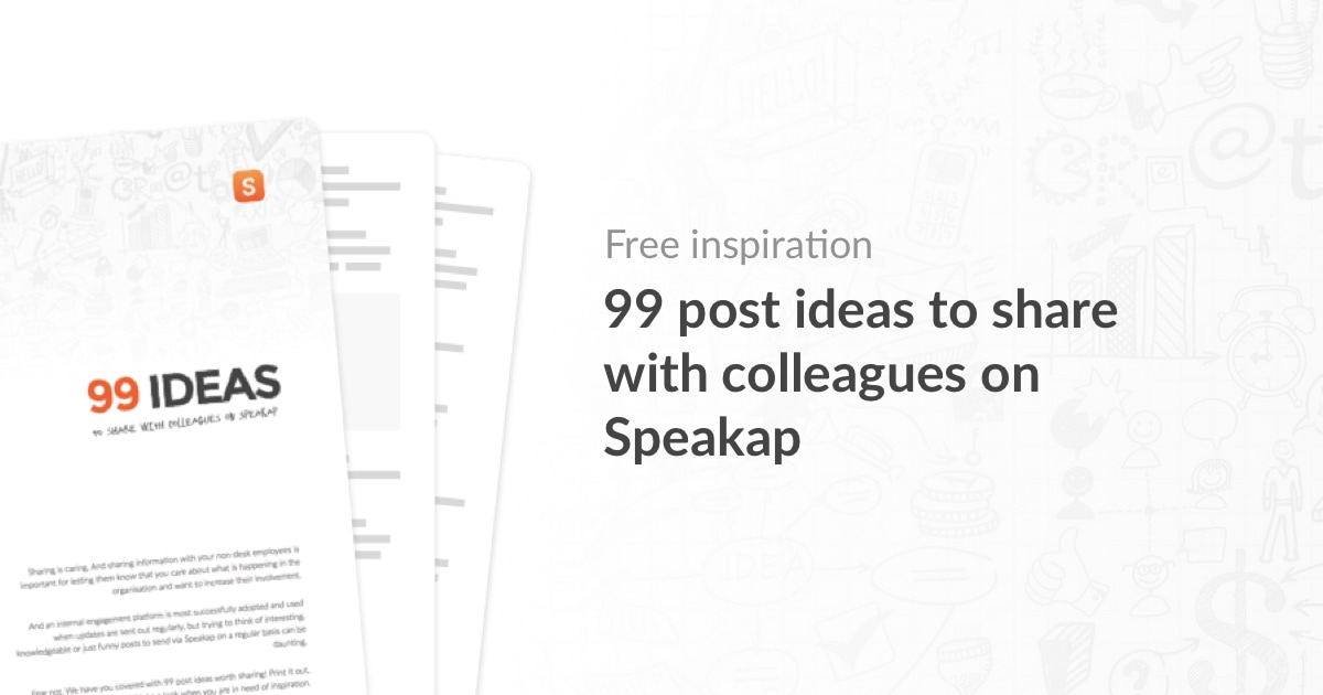 99 ideas to share on Speakap featured image