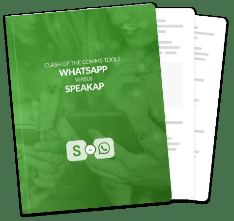 Speakap versus WhatsApp cover
